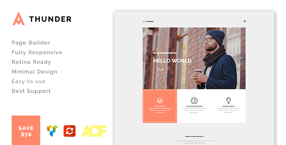 Thunder – Minimal Agency / Portfolio Theme