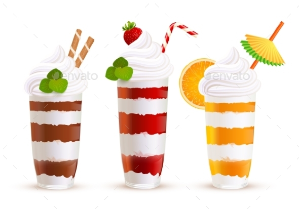 Sweet Summer Cocktails Set - Food Objects