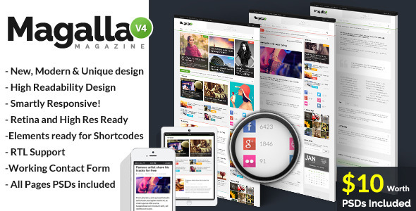 Magalla Magazine, News and Business Blog HTML