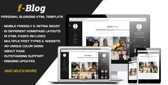 FlexyBlog - Responsive Personal Blog Template - Personal Site Templates