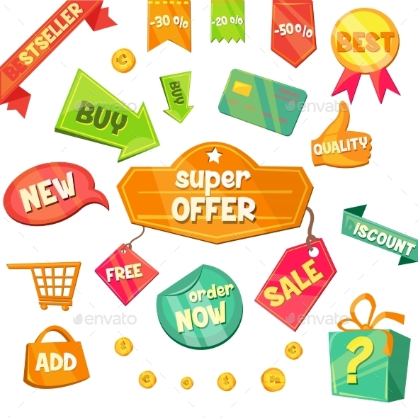 Emblem Sale, Discount Super Offer Vector - Miscellaneous Vectors