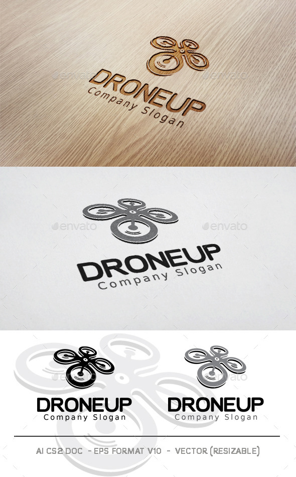 Droneup Logo - Objects Logo Templates