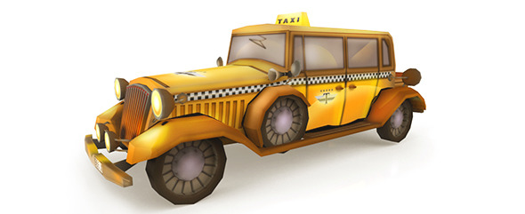 LowPoly Taxi  - 3DOcean Item for Sale
