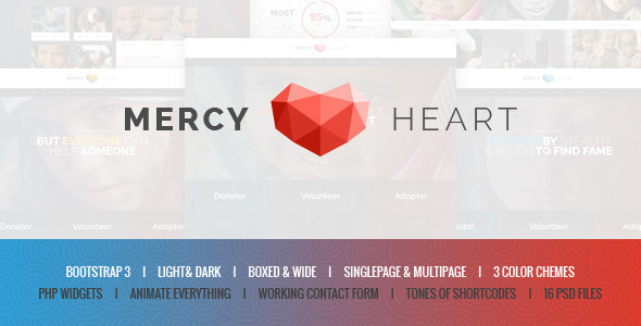 Mercy Heart – Modern Charity HTML Template