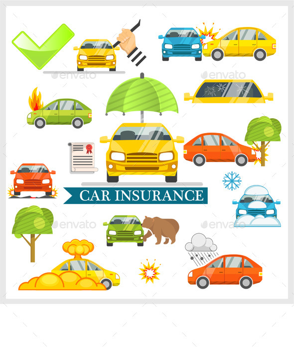 Car Insurance Vector  - Man-made Objects Objects