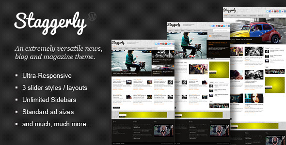 Staggerly – Responsive News, Magazine & Blog Theme