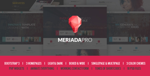 Meriada Pro - Responsive Corporate HTML Template  - Corporate Site Templates