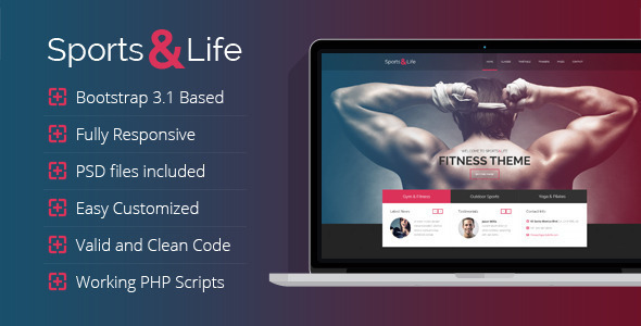 Sports&Life – Gym & Fitness HTML Template