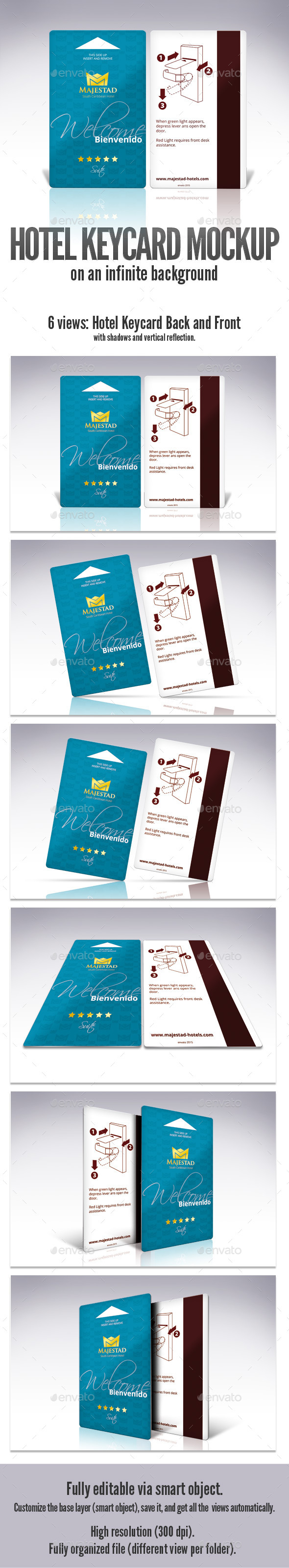Keycard Mockup - Product Mock-Ups Graphics