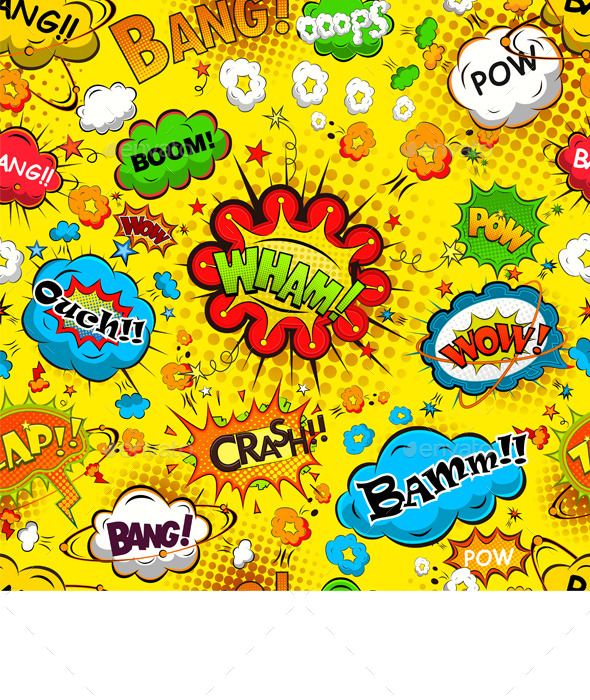 Comic Speech Bubbles Seamless Pattern - Patterns Decorative