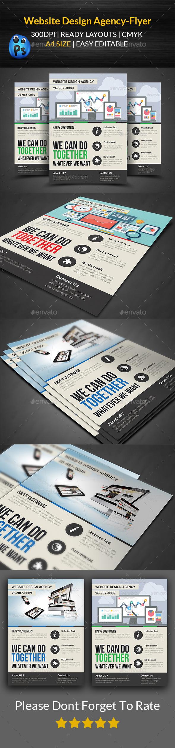 Website Design Agency Flyer Print Templates - Flyers Print Templates