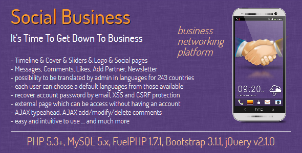 Social Business – social business networking nulled