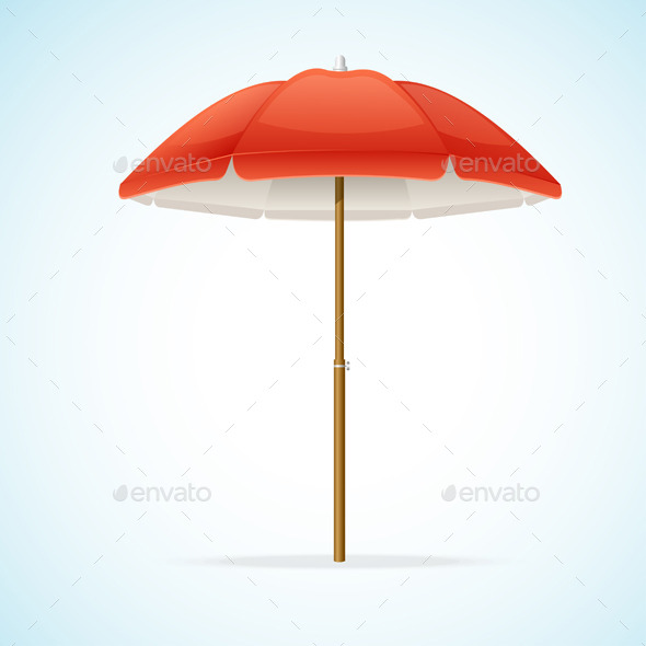 Beach Umbrella - Man-made Objects Objects