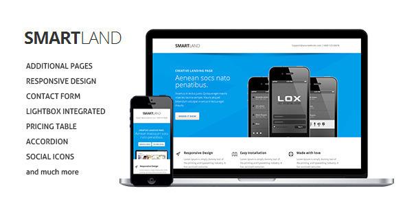 Smartland Responsive Multipurpose Landing page