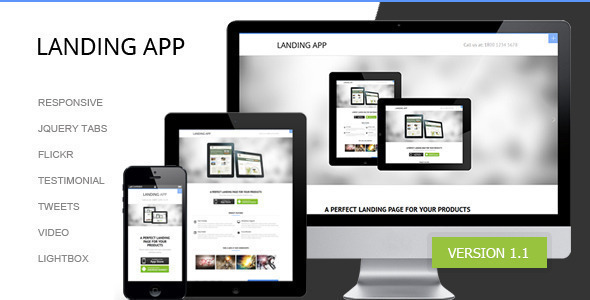 LandingApp responsive landing page - Landing Pages Marketing