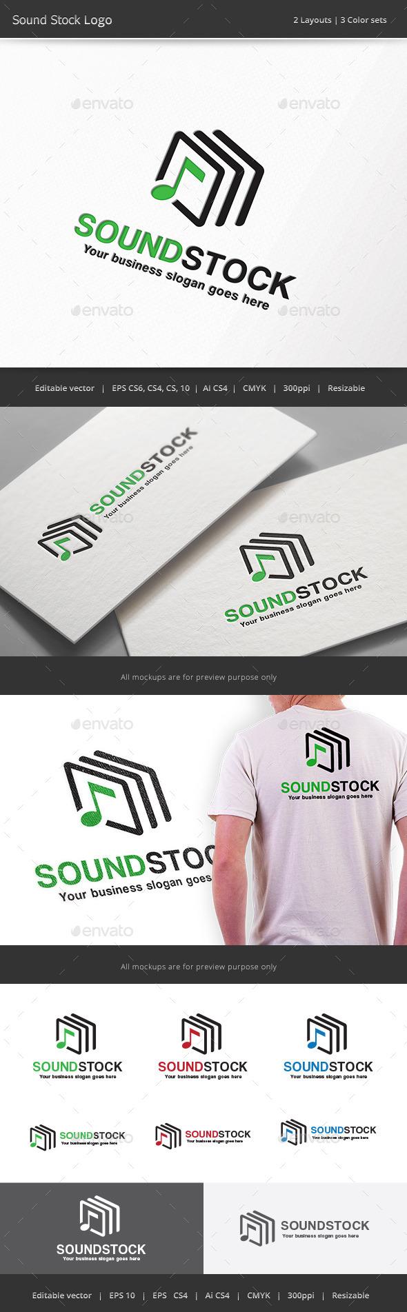 Sound Stock Logo - Vector Abstract