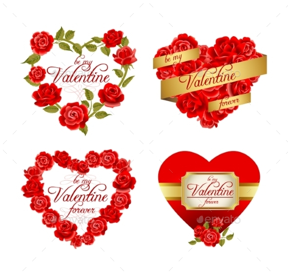 Frames with Red Roses - Valentines Seasons/Holidays