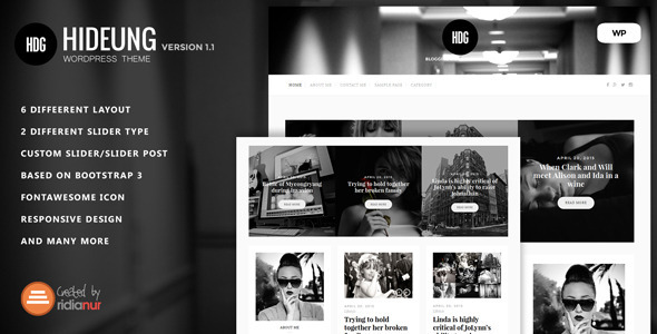 Hideung – Responsive WordPress Blog Theme