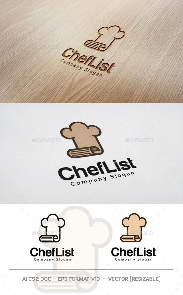 Chef List Logo - Objects Logo Templates