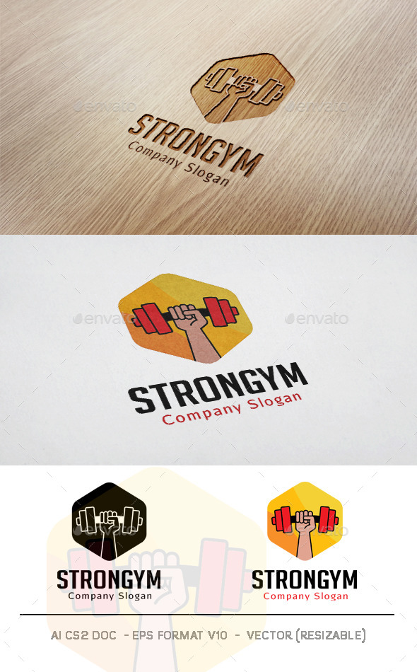 Strong Gym Logo - Objects Logo Templates