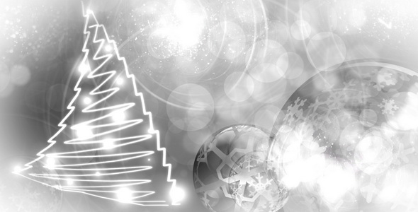Silver Christmas Background by Ilyon | VideoHive