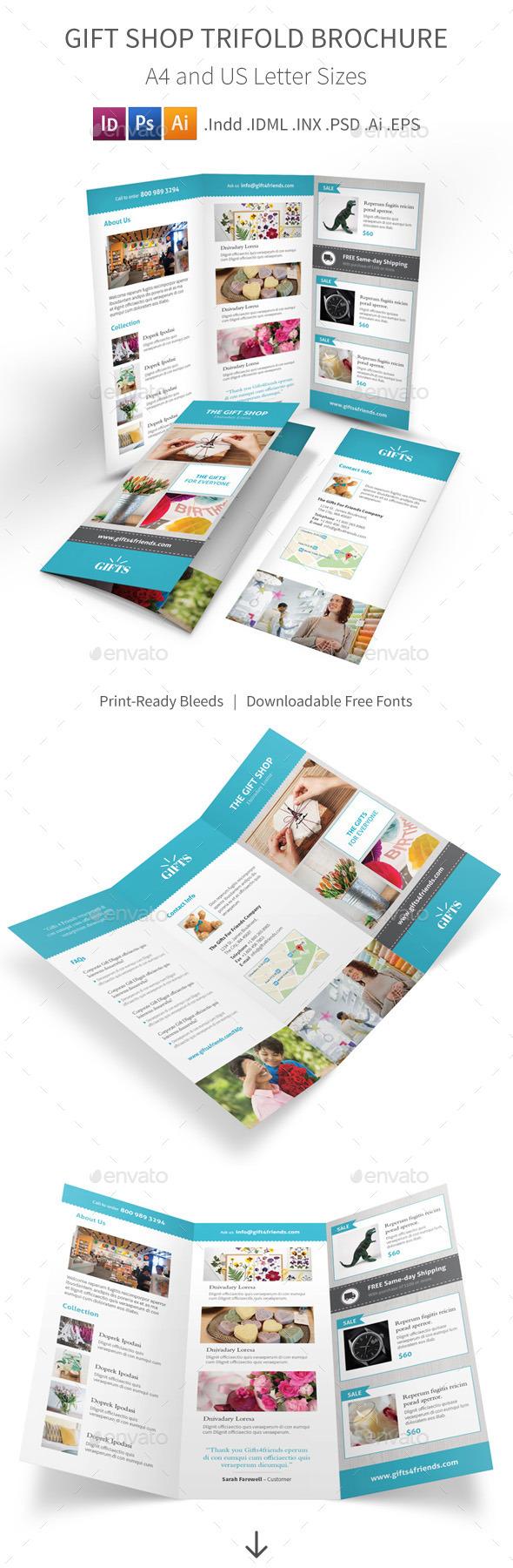Gift Shop Trifold Brochure - Informational Brochures