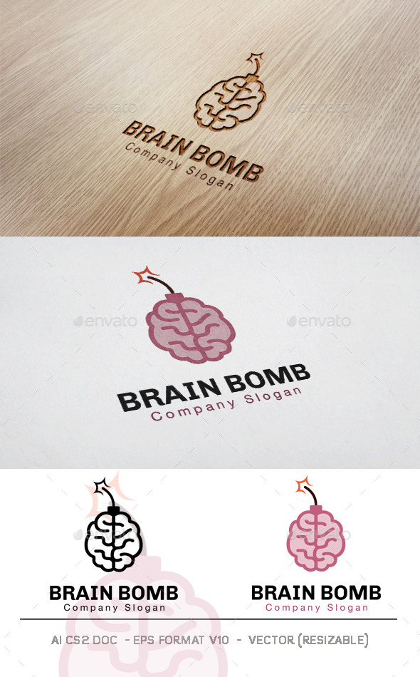 Brain Bomb Logo - Symbols Logo Templates