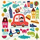 Summer Symbols - GraphicRiver Item for Sale