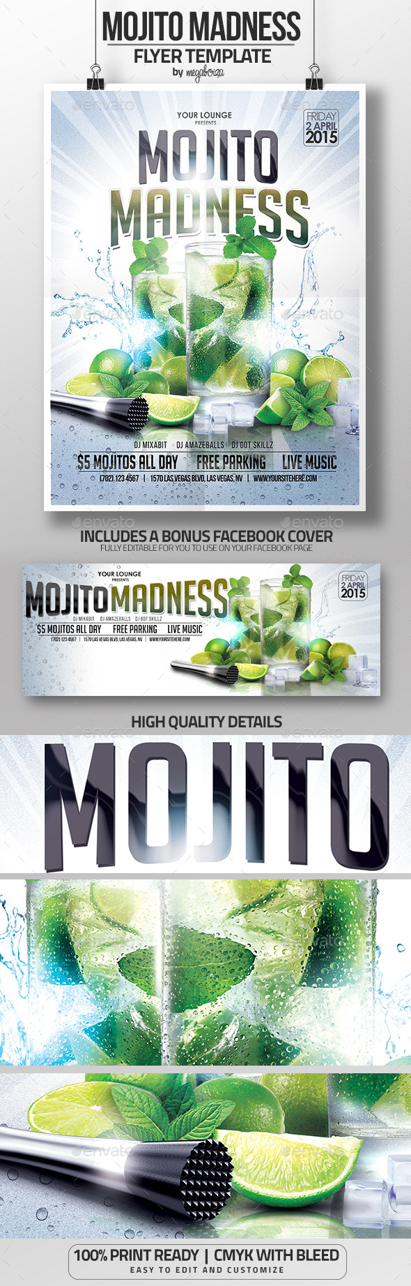 Mojito Madness Flyer/Poster Template - Clubs & Parties Events