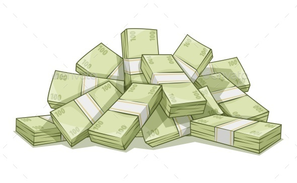 Hill of Bundles with Money - Miscellaneous Vectors