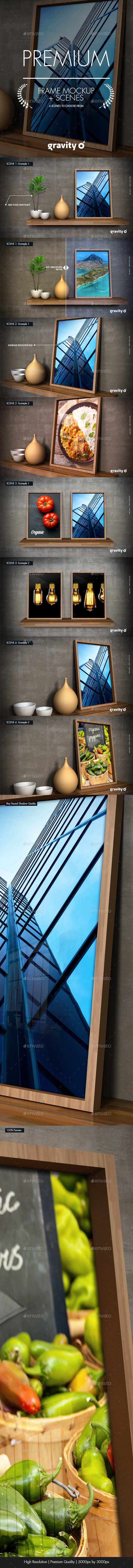 Picture Frame Mockup & Scenes - Product Mock-Ups Graphics