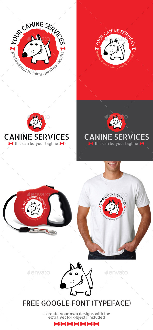 Dog or Pet Services Vector Logo - Animals Logo Templates