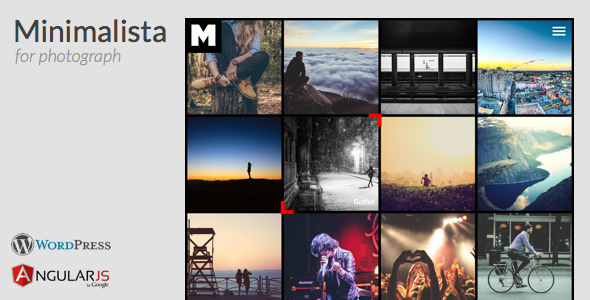 Minimalista – AngularJS Photograph WordPress theme