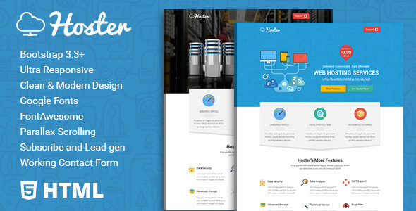 Hoster | Hosting Service HTML Template