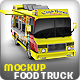 Food Truck Mock-Up. Unique 3D model mockup. - GraphicRiver Item for Sale