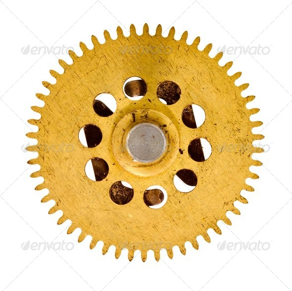 cogwheel on white background - Stock Photo - Images