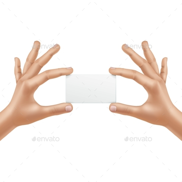 Vector Male Hands Holding Blank Card Isolated - Miscellaneous Vectors