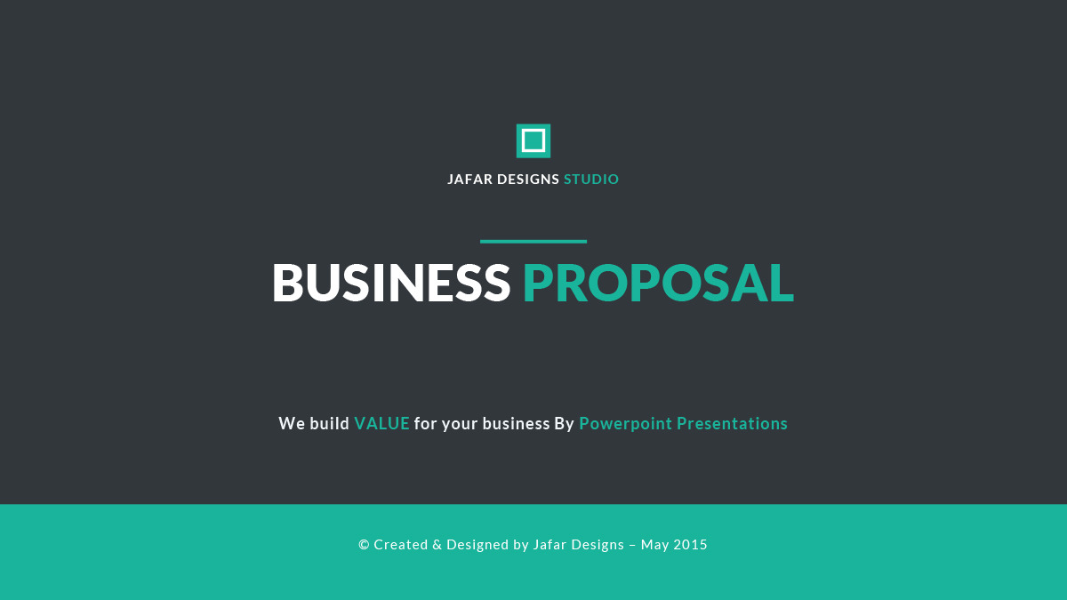 business proposal powerpoint template by jafardesigns