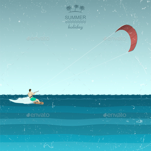 Kite Surfing - Sports/Activity Conceptual