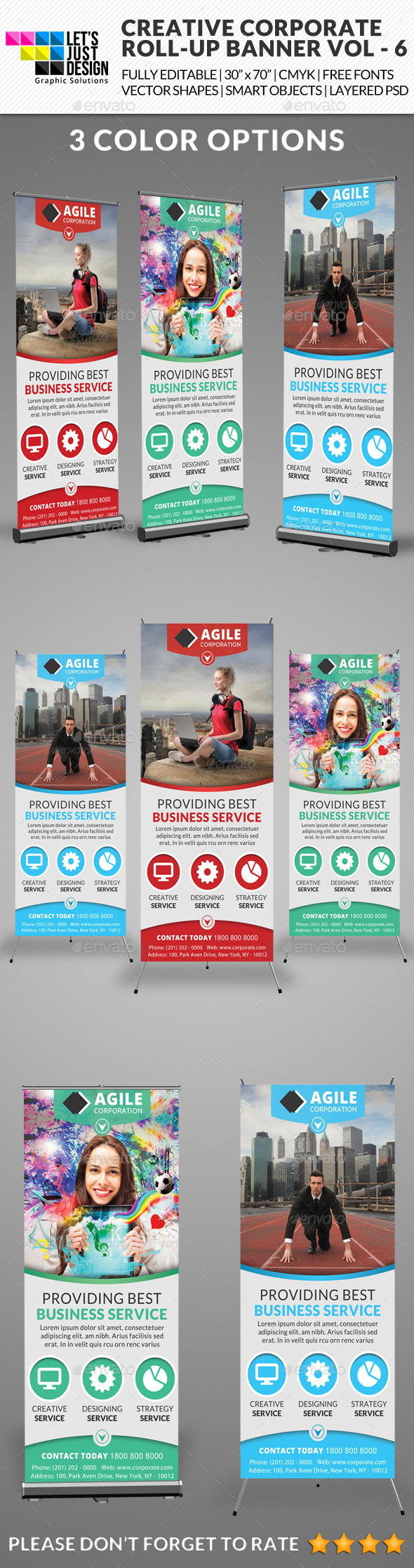 Corporate Roll-up Banner Vol 6 - Signage Print Templates