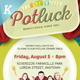 Potluck Event Flyers - GraphicRiver Item for Sale