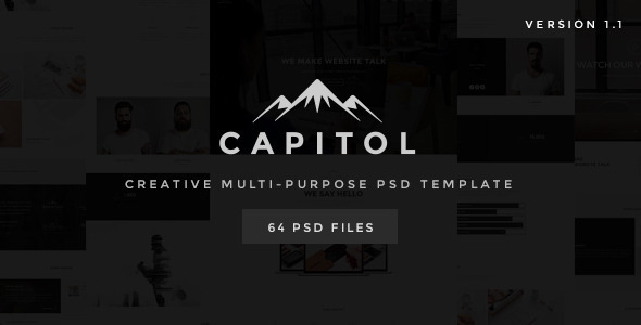 Capitol - Creative Multi-Purpose PSD Template - Creative PSD Templates