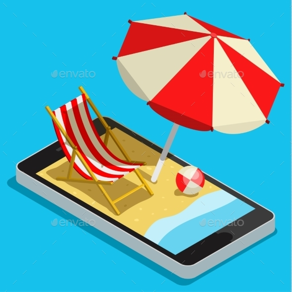 Vacation With Mobile Phone Concept - Travel Conceptual