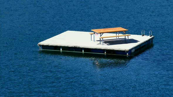 Floating picnic table on willowa lake by takeonevideo videohive play preview video watchthetrailerfo