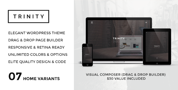 TRINITY – WordPress Responsive One Page Parallax