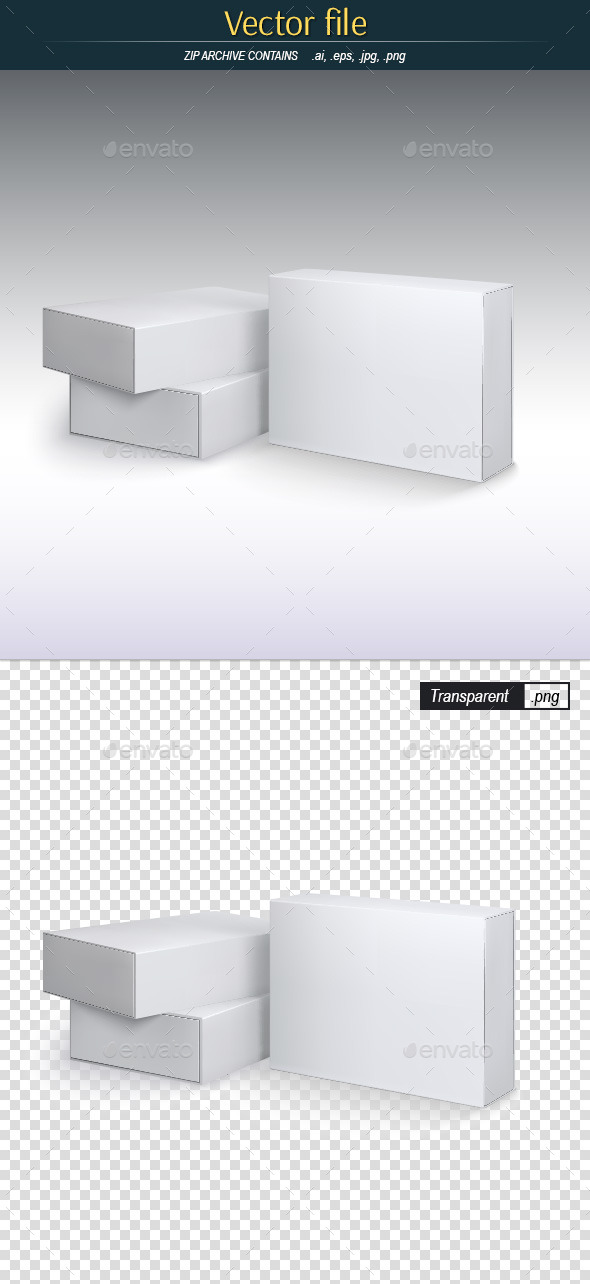 Package Boxes - Template for Design - Objects Vectors