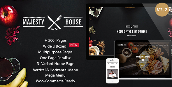 Majesty – Responsive Restaurant HTML5 Template