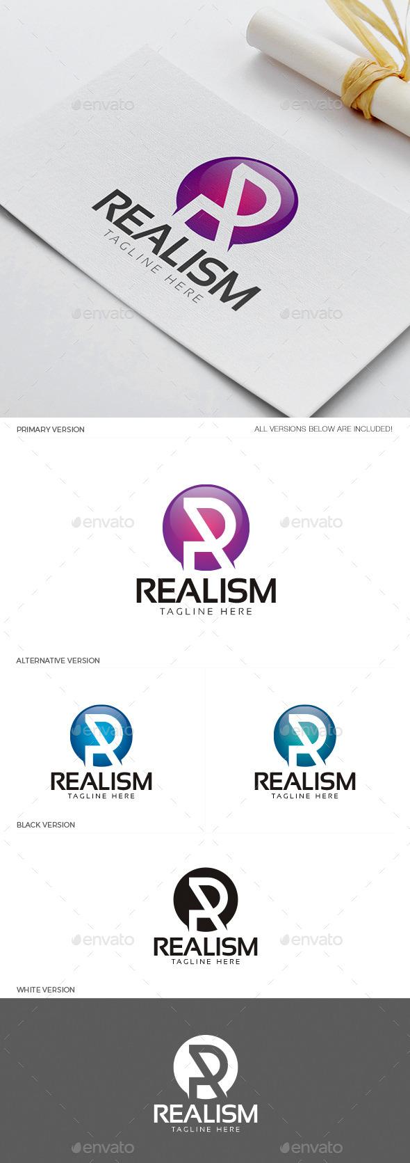 Realism - Letter R Logo - Letters Logo Templates