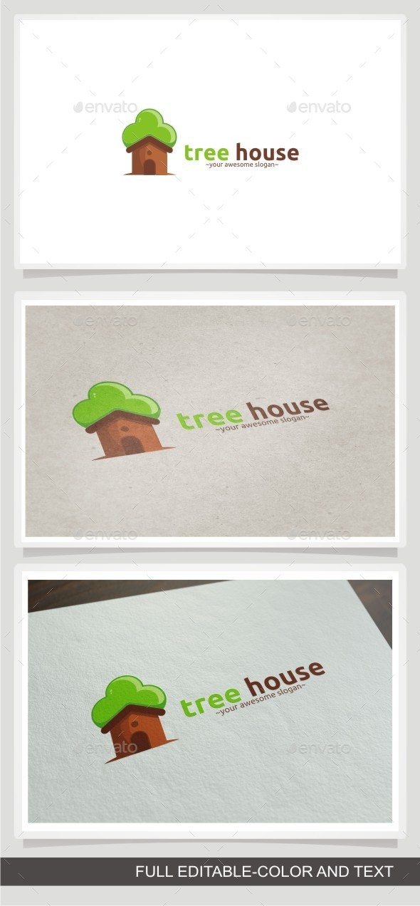 Tree House - Buildings Logo Templates