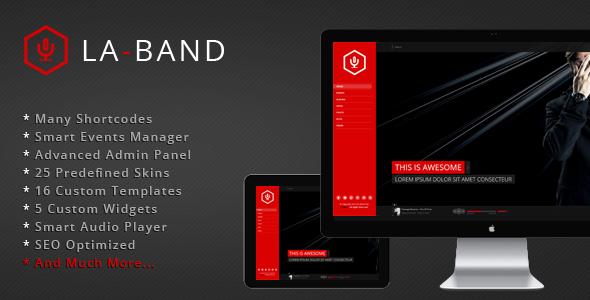 LA-BAND – Music Band Premium WordPress Theme